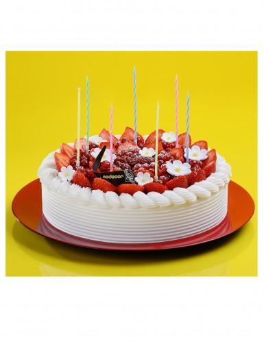 12 candele colorate con supporto e motivo a spirale-1