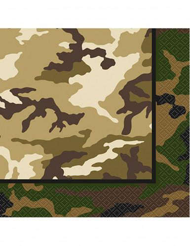16 tovaglioli di carta con fantasia militare da 33 x 33 cm