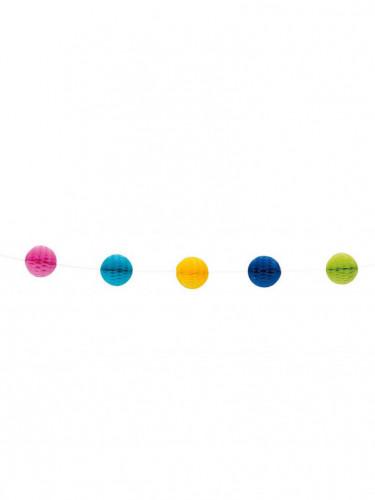Ghirlanda con palle alveolate multicolore 213cm