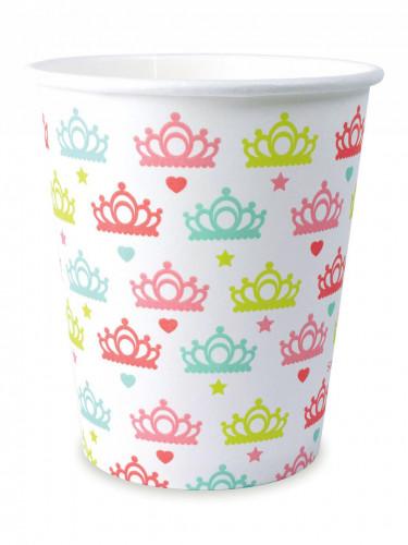 8 bicchieri principessa in cartone da 25 cl