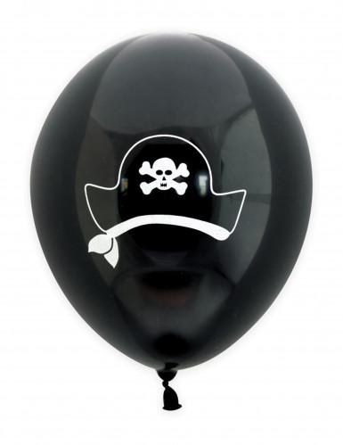 6 palloni in lattice motivo pirata da 25 cm