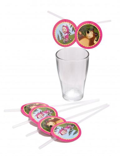 Cannucce in plastica con medaglione di Masha e Orso™-1