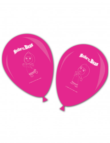 8 palloni in lattice rosa Masha e Orso™