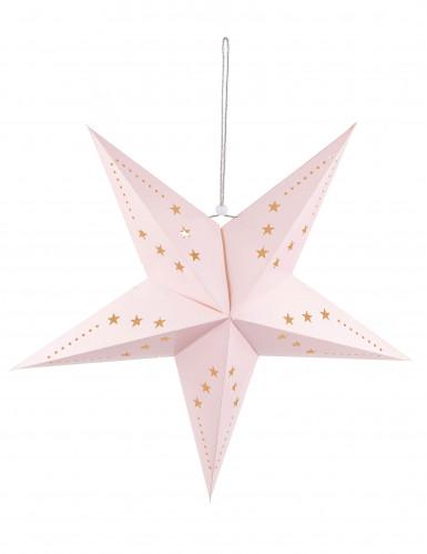 Lanterna stella rosa chiaro 60 cm