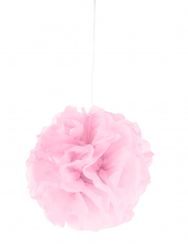 Ponpon di carta rosa da appendere 25 cm