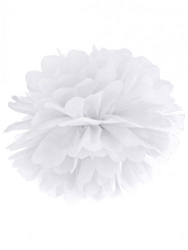 Pompon a sospensione in carta bianca da 35 cm