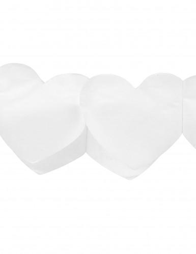 Ghirlanda di cuori di carta bianca-1