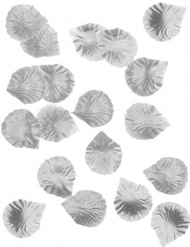 100 Petali di rosa in tessuto argentato