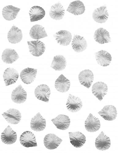 100 Petali di rosa in tessuto argentato-1