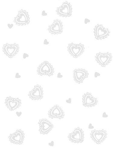 Coriandoli bianchi a forma di cuore 15 g
