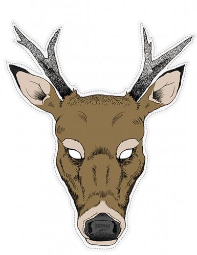Maschera di carta da renna