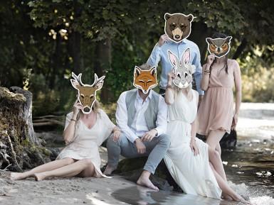 Maschera di carta da renna-2