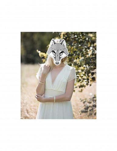 Maschera di cartone da lupo-1