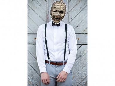 Maschera da mummia in carta per Halloween-1