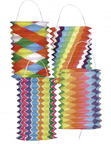 Kit da 12 lanterne in carta multicolor da 16 cm