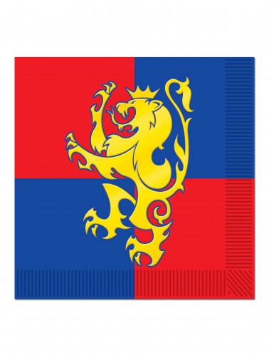 Lotto 16 tovaglioli con stemma medievale
