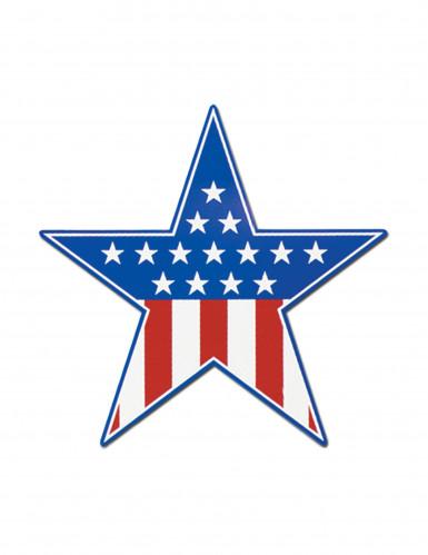 Decorazione a forma di stella con bandiera USA