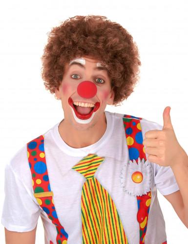 Parrucca per adulti clown/afro marrone-1