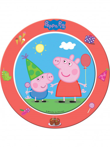 Confezione 8 piatti di carta Peppa Pig™
