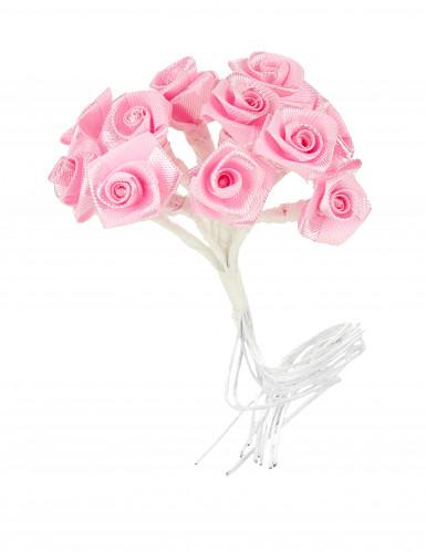 72 mini rose in raso color rosa-1