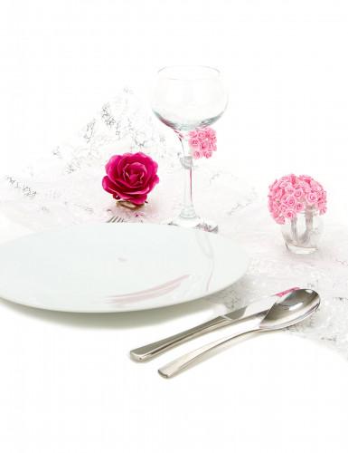 72 mini rose in raso color rosa-2