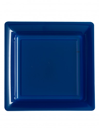 12 piatti quadrati blu marine
