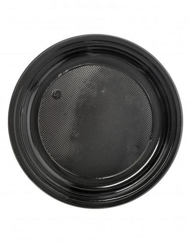 50 piattini di plastica neri
