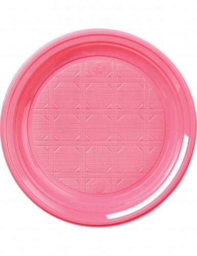 30 Piatti di plastica rosa