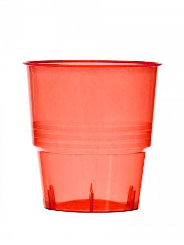 10 bicchieri di plastica rossi