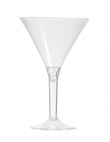 6 calici da cocktail trasparenti 14 cm