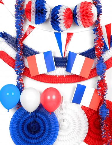 kit decorativo francia blu, bianco e rosso