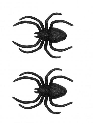 2 ragni per decorare con brillantini