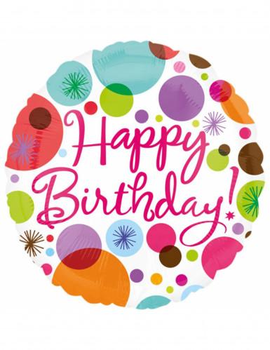 Palloncino in alluminio Happy Birthday 43 cm