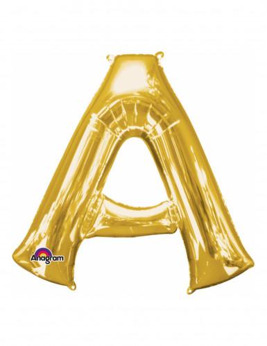 Palloncini in alluminio lettera A dorato