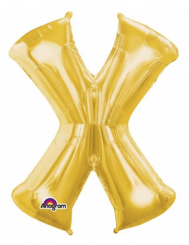 Palloncino dorato lettera X da 35 cm