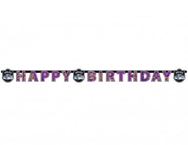 Ghirlanda Happy Birthday Polizia