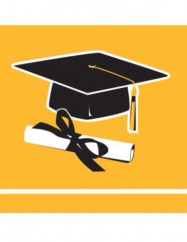36 tovagliolini gialli Congrats Grad
