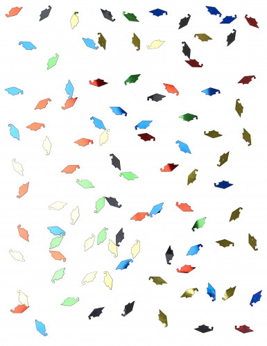 Coriandoli multicolor a forma di tocco per laurea-1