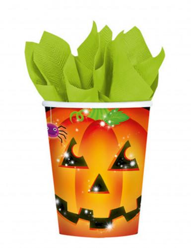 8 bicchieri con zucca di Halloween