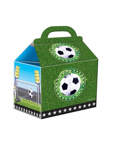 4 scatole per feste in cartone calcio