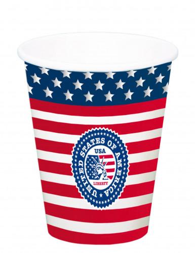 8 bicchieri grandi di carta USA