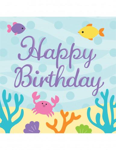 16 tovaglioli Happy Birthday Sirena