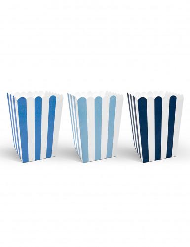 6 Scatole da popcorn blu
