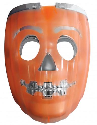 Maschera zucca luminosa per adulto halloween su for Zucca halloween luminosa