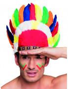 Copricapo indiano multicolor adulto