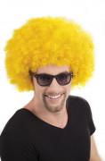 Parrucca riccia gialla voluminosa per adulti