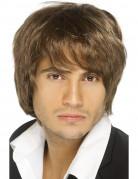 Parrucca boy band marrone per uomo