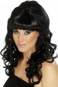 Parrucca lunga nera da donna