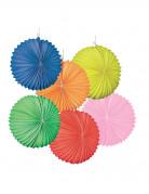 Set di 12 lanterne di carta colorate