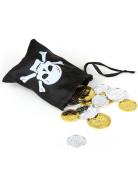Bisaccia con tesoro dei pirati